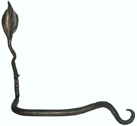 wrought iron leaf toilet paper holder