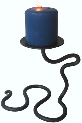 wrought iron single candle holder 3