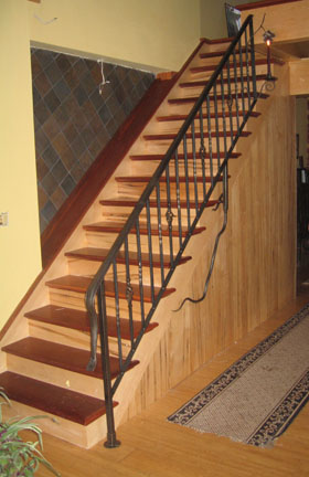 wrought iron stair railing 2