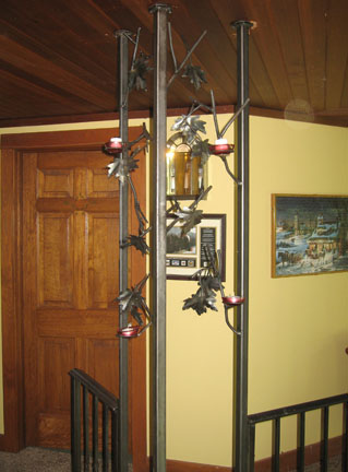 wrought iron railing corner