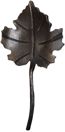 wrought iron grape leaf